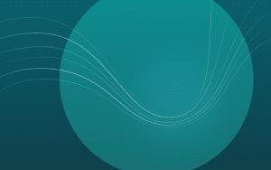 Xubuntu 18.04 blue circle wallpaper