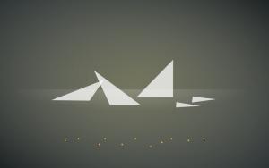 Xubuntu 18.04 flying triangle wallpaper