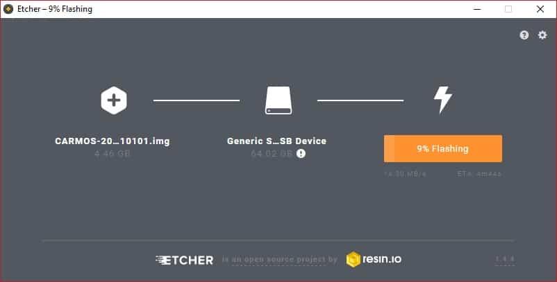 Flashing Chromium OS image