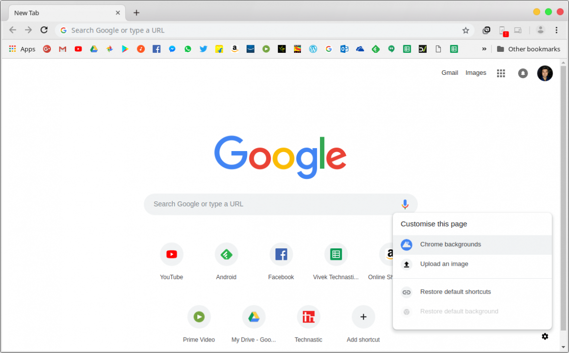 How To Customize The New Tab Page On Google Chrome
