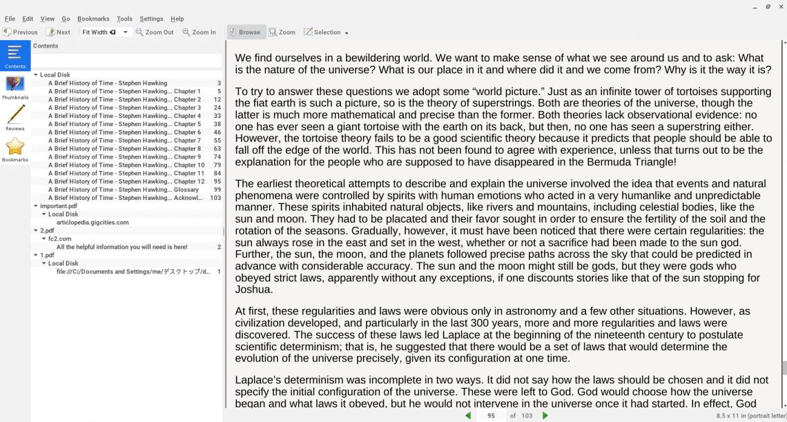Okular PDF editor chromebook