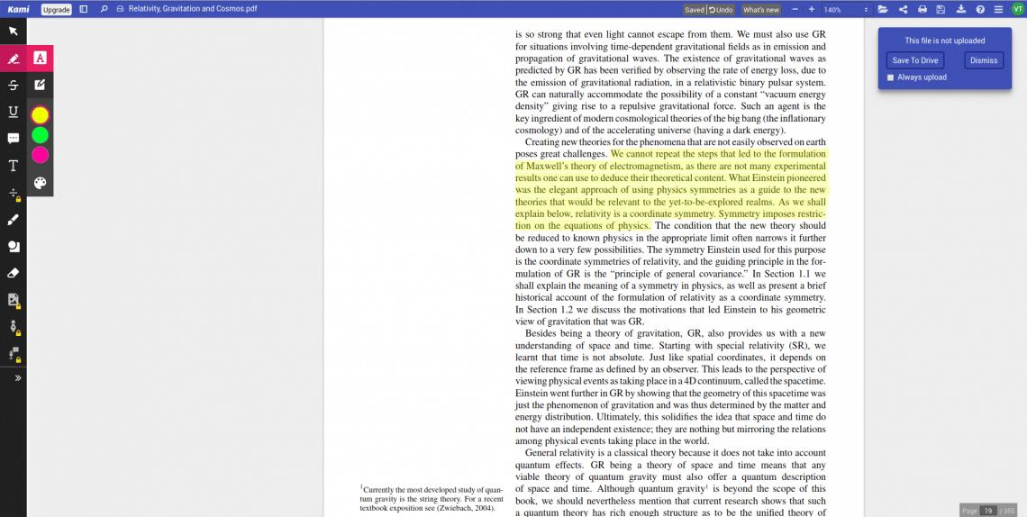 KAMI PDF reader for chromebook