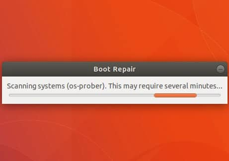 boot repair ubuntu
