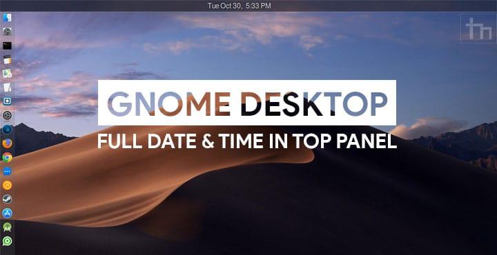 date time format in ubuntu gnome