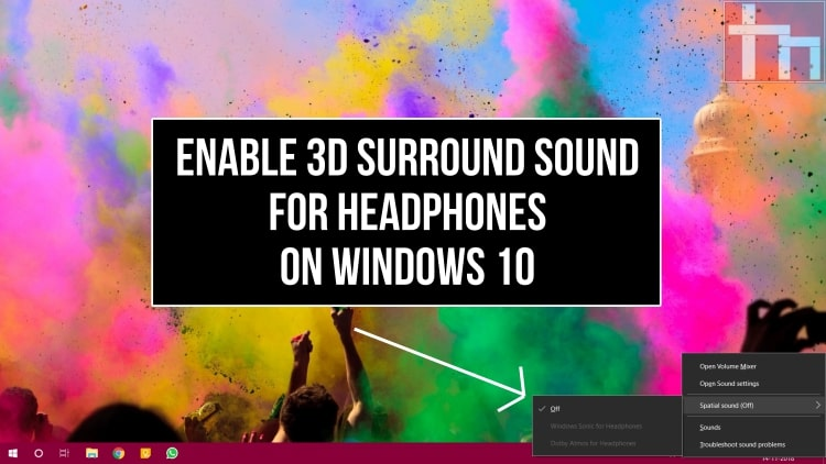 3D Surround Sound Windows 10