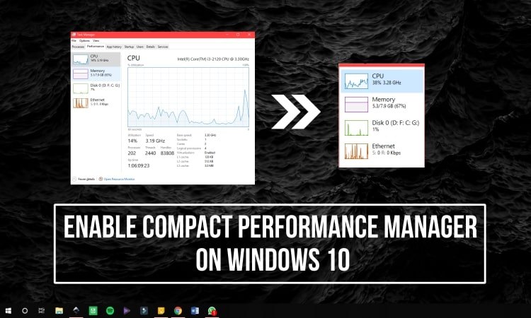 Enable Compact Performance Manager on Windows 10