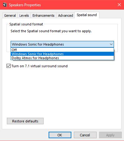 windows sonic sound for windows