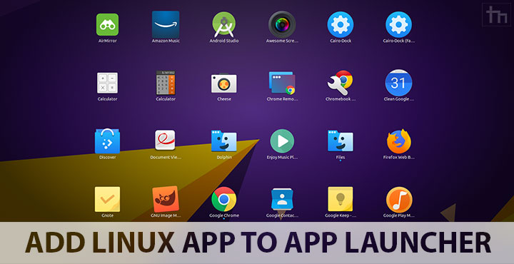 Add application to launcher linux