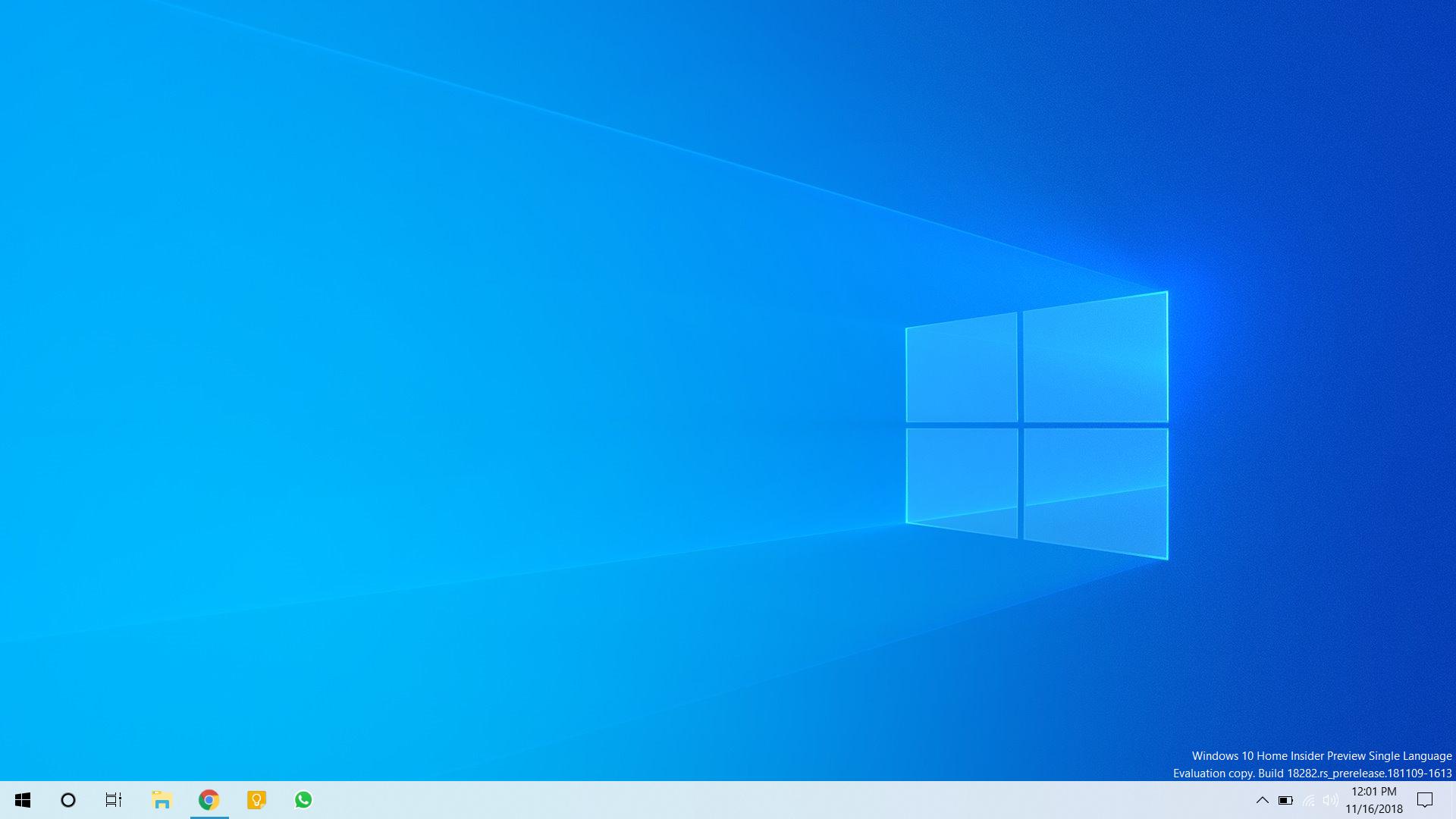 New wallpaper in Windows 10