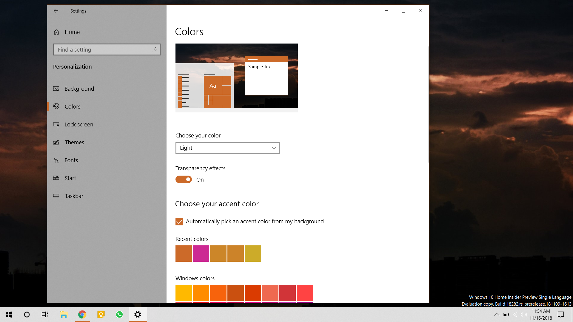 Light theme in Windows 10 Insider Preview