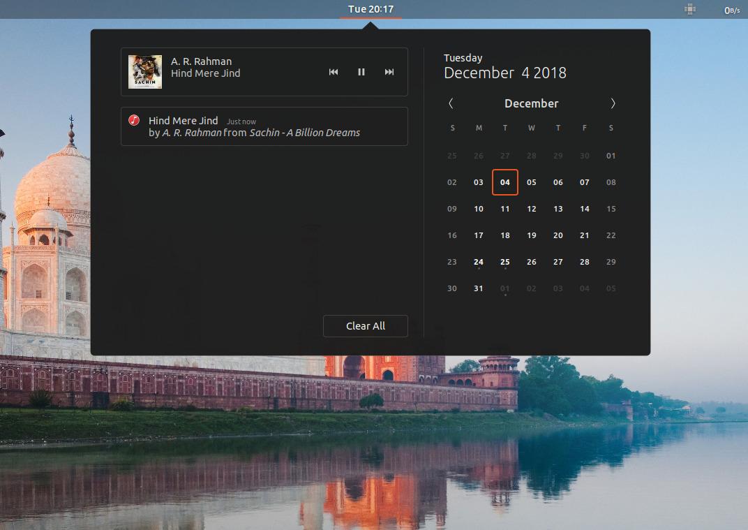 ubunto media controls