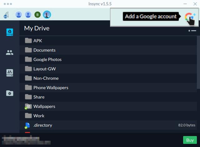 Sync multiple Google Drive accounts