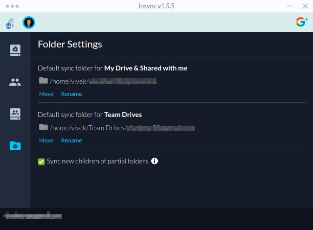 Custom sync folder Drive