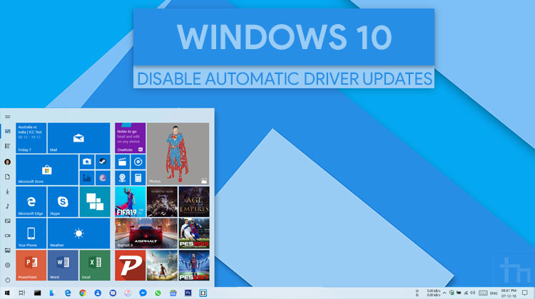 How To Disable Automatic Driver Updates on Windows 10