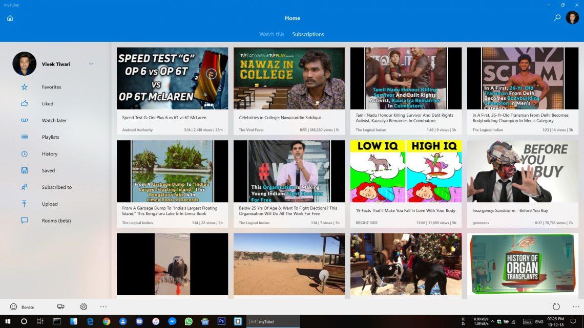 mytube windows 10 app