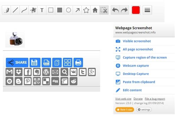 Webpage Screenshot Chrome extension