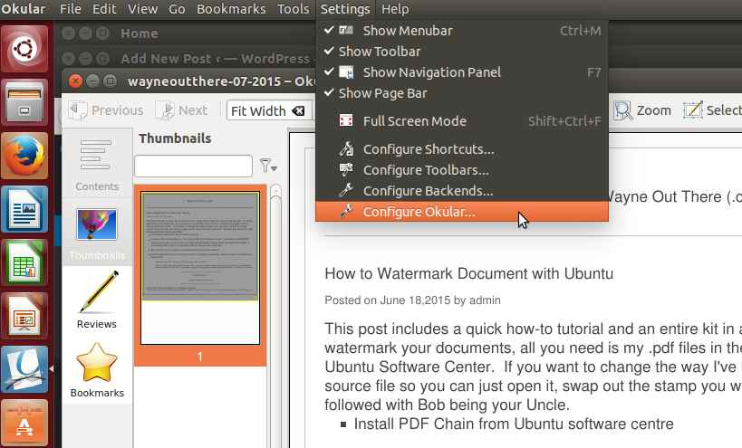 Okular pdf editor linux