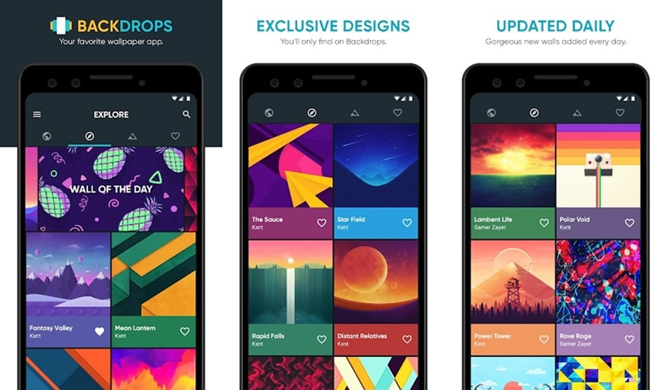 Backdrops wallpaper app