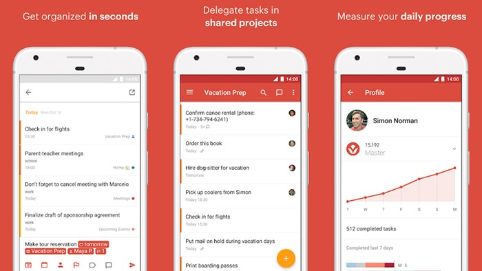 Todoist to-do list app