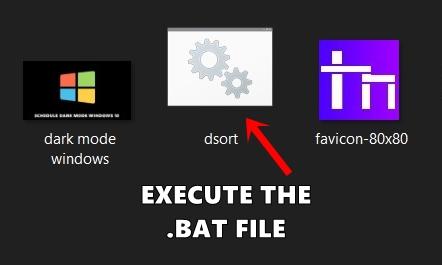 batch file created