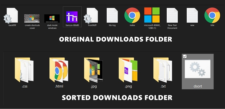 batch sort file in folder