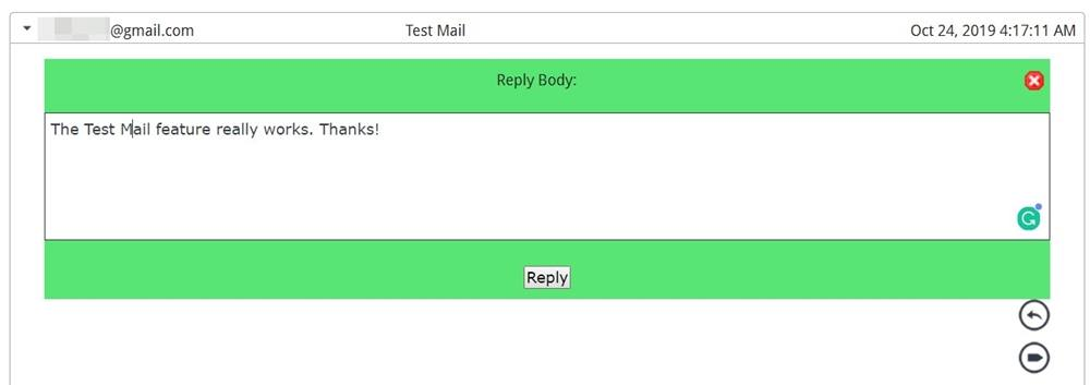 reply mail