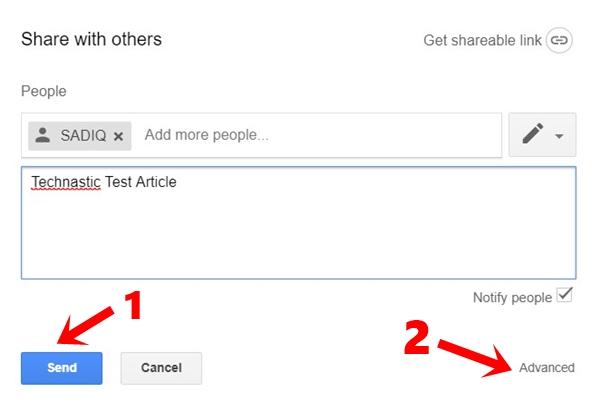 file sharing settings google drive