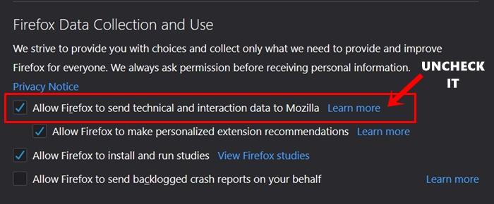 telemetry data firefox
