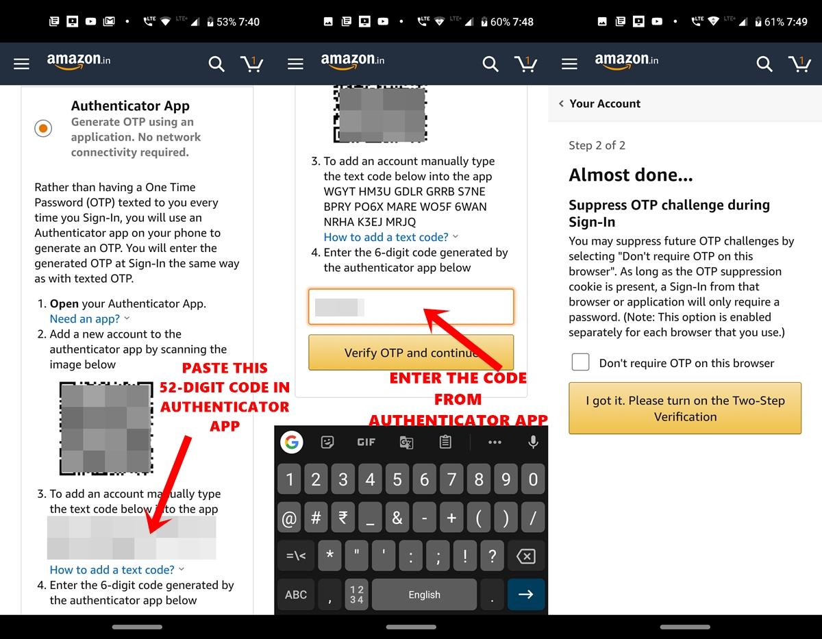 use amazon authenticator app