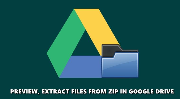 google drive zip