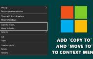 copy move menu