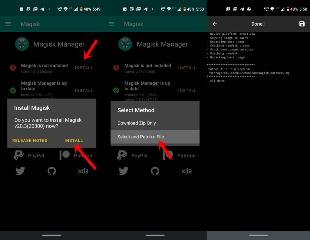 install magisk android