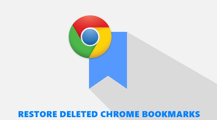 restore chrome bookmarks
