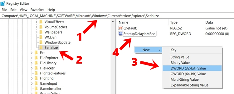 windows boot serialize