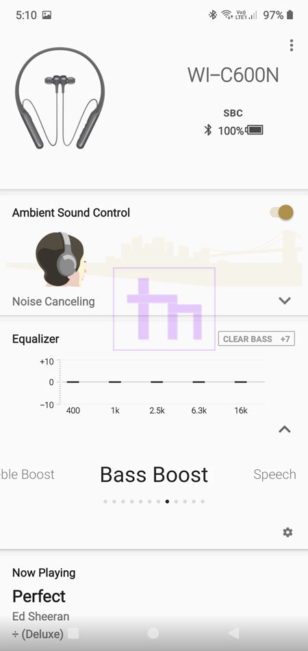 Headphones Connect equalizer