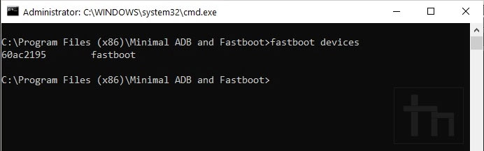 fastboot devices command