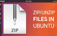 zip unzip command ubuntu