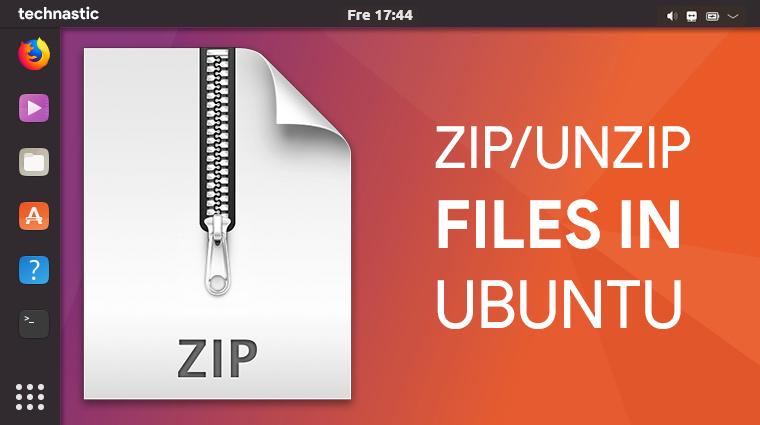 zip unzip command ubuntu