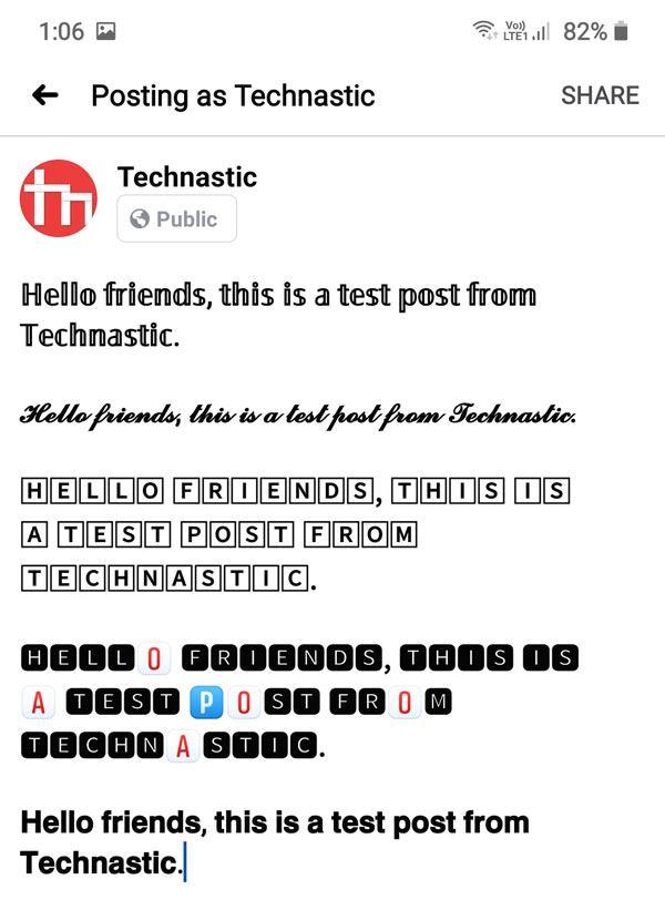facebook text styles
