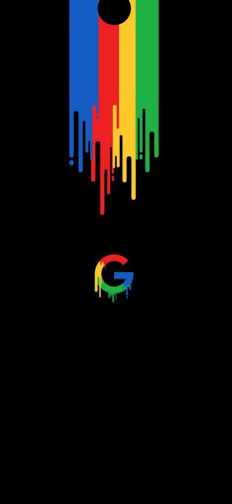 google color punch hole wallpaper