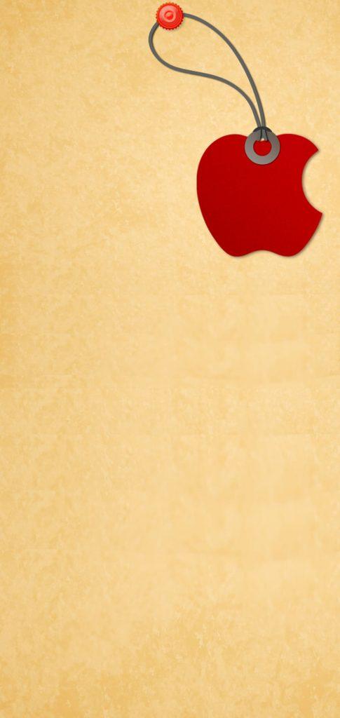 apple logo punch hole wallpaper