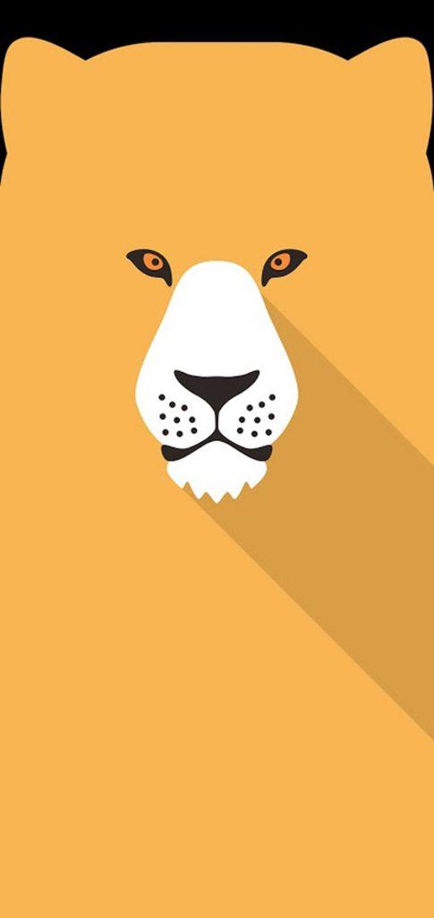 tiger art hole punch wallpaper