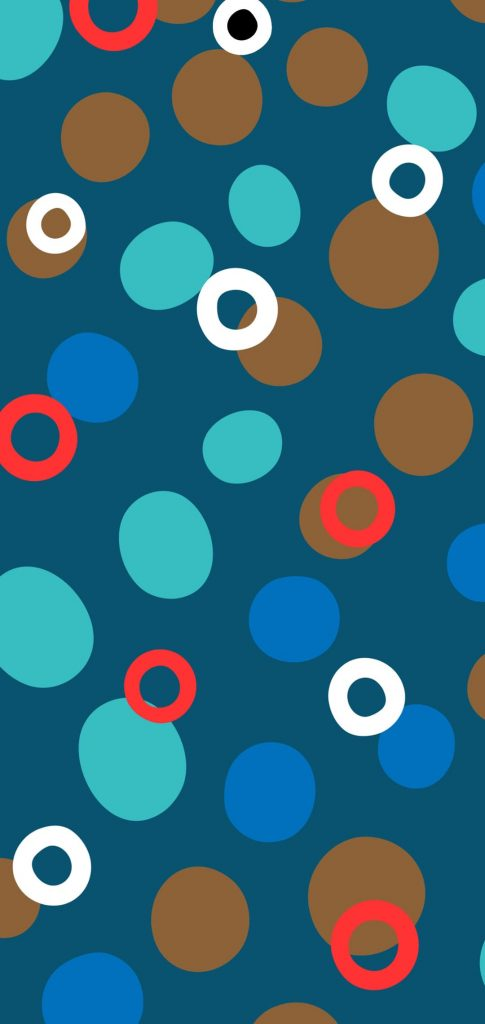 colorful dots hole punch wallpaper
