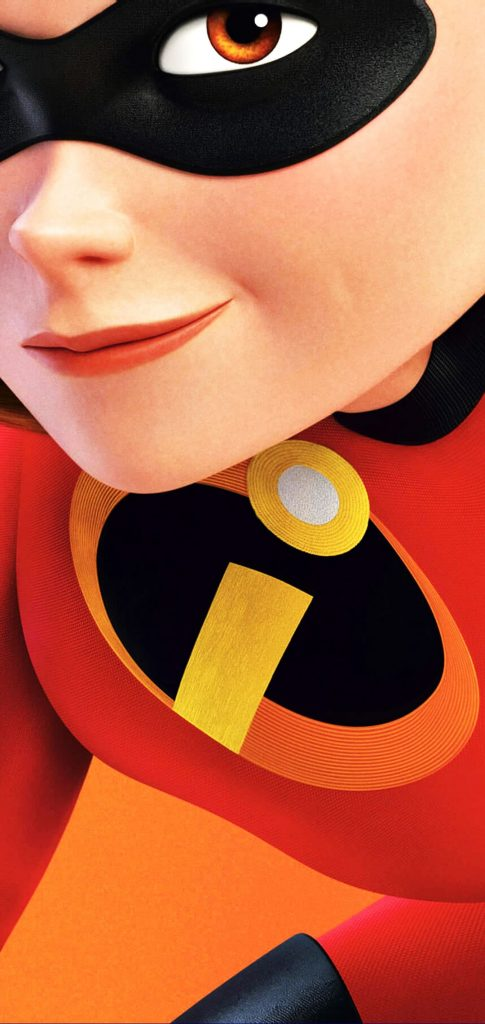 incredibles punch hole wallpaper