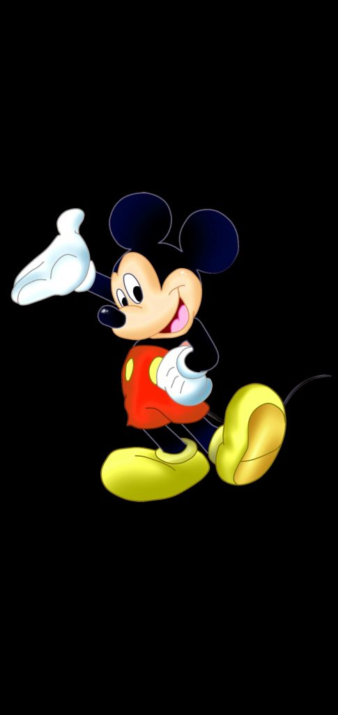 mickey mouse dot notch wallpaper