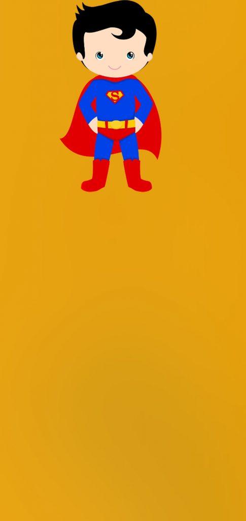little superman dot notch wallpaper