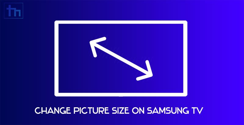 samsung tv picture size
