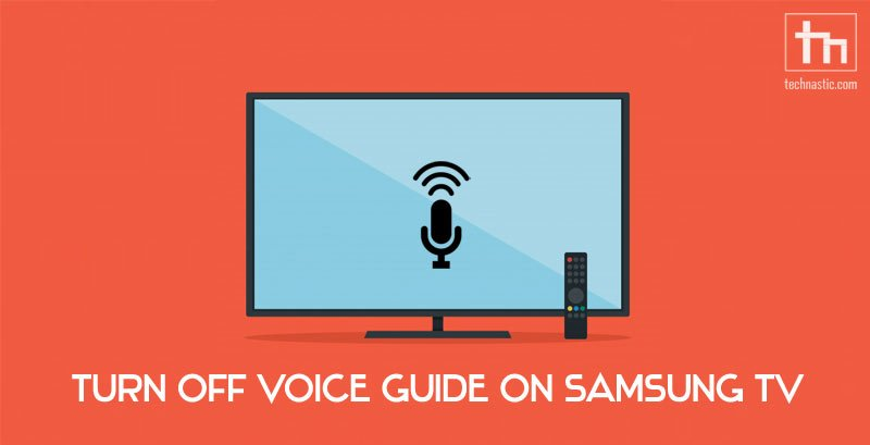 turn off voice guide samsung tv