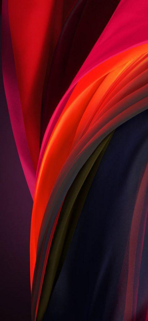 silver purple dark iphone se 2020 wallpaper
