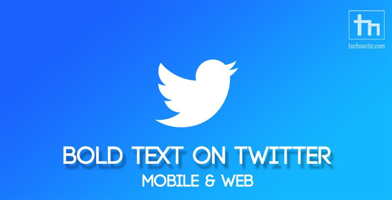 bold text on twitter
